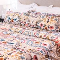 Granpallazzo By Vesper Lane Windsor Wood King Duvet Cover Set in Yellow/Red