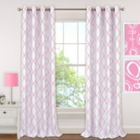 Candice 84-Inch Grommet Blackout Window Curtain Panel in Pink