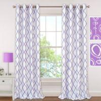 Candice 95-Inch Grommet Blackout Window Curtain Panel in Purple