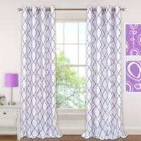Candice 63-Inch Grommet Blackout Window Curtain Panel in Purple