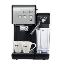 Mr. Coffee® One-Touch CoffeeHouse Espresso and Cappuccino Machine in Black Stainless