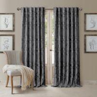 Darla 84-Inch Rod Pocket/Back Tab Blackout Window Curtain Panel in Dark Grey