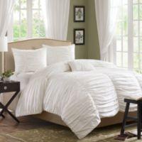 Madison Park Delancey 4-Piece King Comforter Set in White