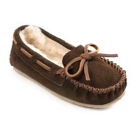 Minnetonka® Size 4 Cassie Kid's Slippers in Chocolate