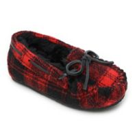 Minnetonka® Size 8 Cassie Kid's Slippers in Red Plaid
