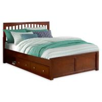 Hillsdale Furniture Pulse Queen Mission Bed with Storage in Cherry