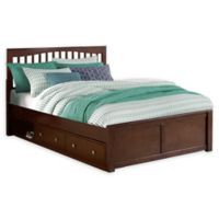 Hillsdale Furniture Pulse Queen Mission Bed with Storage in Chocolate