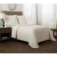 Bridge Street Sierra Full/Queen Coverlet Set in Ivory
