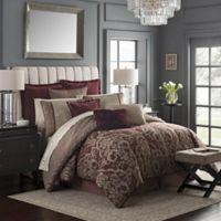Waterford® Amarah Reversible California King Comforter Set in Cabernet