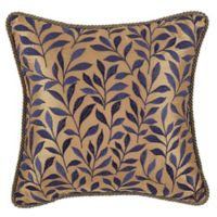 Croscill® Margaux Leaf Square Throw Pillow in Blue/Gold