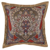 Croscill® Margaux Damask Square Throw Pillow in Red/Blue