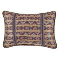 Croscill® Margaux Boudoir Throw Pillow in Red/Blue