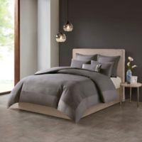 N Natori® Hanae Full/Queen Duvet Cover Set in Grey