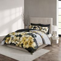 N Natori® Casa Noir Full/Queen Duvet Cover Set in Black/Gold