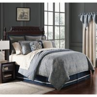 Waterford® Asher Reversible King Comforter Set in Navy