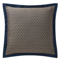 Waterford® Asher European Pillow Sham in Navy/Bronze
