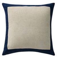 Waterford® Asher Velvet Square Throw Pillow in Navy/Ivory