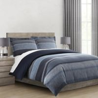 Morris Stripe Twin/Twin XL Comforter Set in Navy