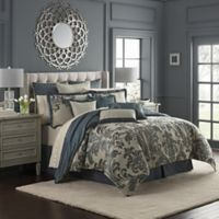 Waterford® Everett Reversible King Comforter Set in Teal