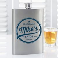Groomsmen Brewing Co. Personalized Flask