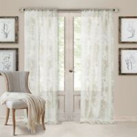 Valentina Sheer 108-Inch Rod Pocket Window Curtain Panel in White