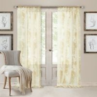 Valentina Sheer 108-Inch Rod Pocket Window Curtain Panel in Ivory