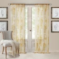 Valentina Sheer 108-Inch Rod Pocket Window Curtain Panel in Antique