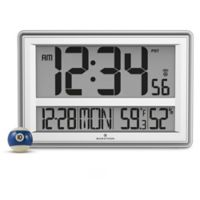 Jumbo Atomic Digital Clock in Grey