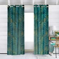 Jungalow By Justina Blakeney Dabito 84-Inch Grommet Winow Curtain Panel in Blue/Yellow