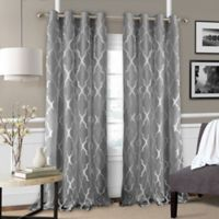 Bethany 95-Inch Grommet Sheer Window Curtain Panel in Grey