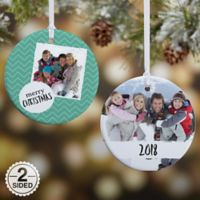 2-Sided Glossy Photo Message Personalized Christmas Ornament