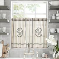 Home Sweet Home 36-Inch Kitchen Window Curtain Tier Pair in Natural