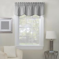 Rings Embroidered Window Valance in Grey