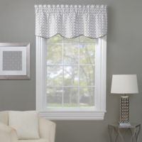 Rings Embroidered Window Valance in White