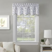 Fairview Embroidered Window Valance in White