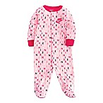 Nike® Newborn Printed Footed Coverall in Pink
