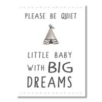 """""""Little Baby with Big Dreams"""" 6-Inch x 4.5-Inch Wood Wall Art"""