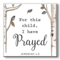 """""""For This Child"""" 5-Inch Square Wood Wall Art"""