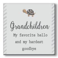 """Grandchildren"" 5-Inch Square Wood Wall Art"