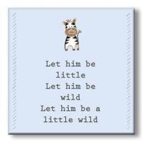 """Let Him Be"" 5-Inch Square Wood Wall Art"