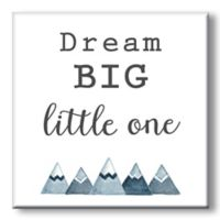 """Dream Big Little One"" 5-Inch Square Wood Wall Art"