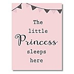 """The Little Princess Sleeps Here"" 6-Inch x 4.5-Inch Wood Wall Art"