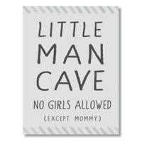 """Little Man Cave"" 6-Inch x 4.5-Inch Wood Wall Art"