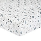 Gerber® Hedgehog Organic Cotton Fitted Crib Sheet in Grey/White