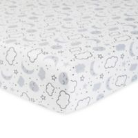 Gerber® Cosmic Organic Cotton Fitted Crib Sheet in Grey/Ivory