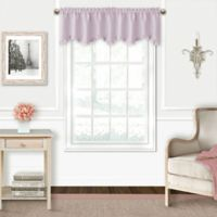 Adaline Blackout Ruffled Valance in Lavender