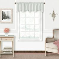 Adaline Blackout Ruffled Valance in Pearl Grey