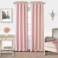 Adaline 84-Inch Rod Pocket Blackout Window Curtain Panel in Soft Pink