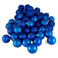 Northlight® 36-Pack Christmas Ball Ornaments in Blue