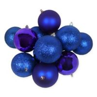 Northlight® 36-Pack Christmas Ball Ornaments in Royal Blue